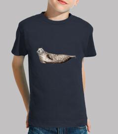 Camiseta niño Foca gris