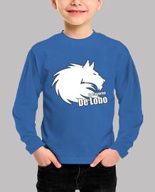 camiseta niño lobo blanco