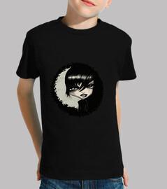 Camiseta Niño, manga corta, negra gotiko