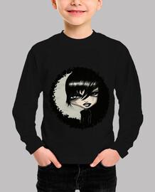 camiseta Niño, manga larga, negra GOTIKO