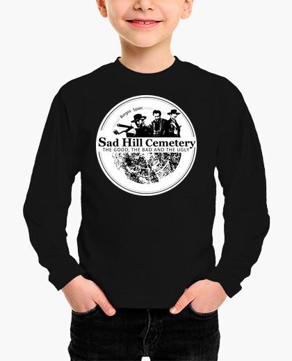 Ropa infantil Camiseta niño manga larga Sad Hill logo