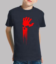 camiseta niño mano