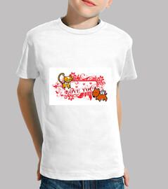 Camiseta Niño Mascotas Love 1