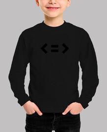 Camiseta Niño Minimal Negro