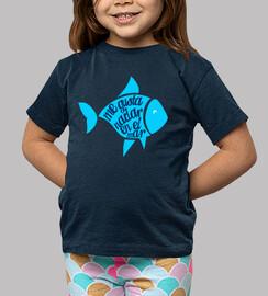 camiseta niño nadar en el mar