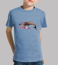 Camiseta niño niña Cachalote y calamar
