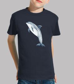 Camiseta niño niña Delfín mular (Tursiops truncatus)