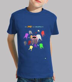 Camiseta niño no al plástico