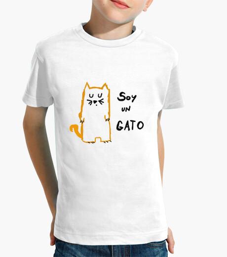 Ropa infantil Camiseta niño Soy un gato