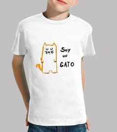 Camiseta niño Soy un gato