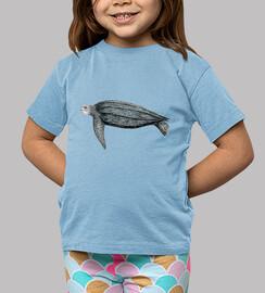Camiseta niño Tortuga laud (Dermochelys coriacea)