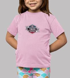 Camiseta niño TRZ3  manga corta rosa
