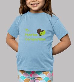 Camiseta niño Yo, Huertos Compartidos corazón
