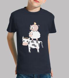 Camiseta niño/a Granja varios colores