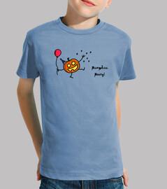Camiseta niño/a Halloween: calabaza