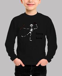 Camiseta niño/a Halloween: skeleton