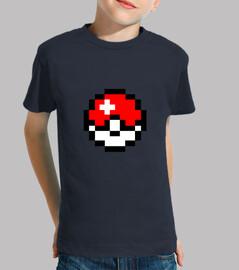 Camiseta Niño/a Pokeball 8Bits