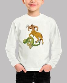 Camiseta niños Centauro contra Naga