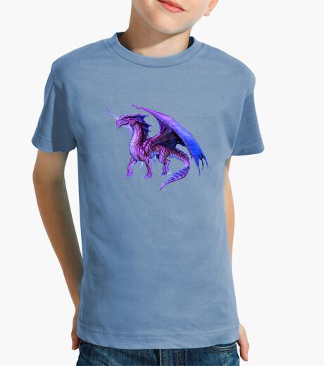 Ropa infantil Camiseta niños Dragón Púrpura