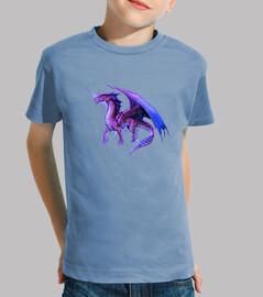 Camiseta niños Dragón Púrpura