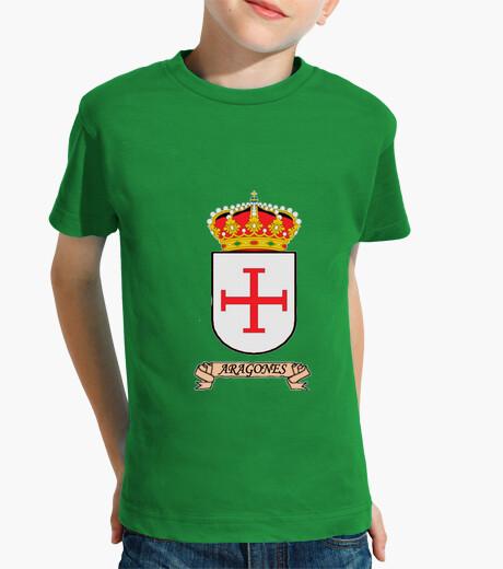 Ropa infantil Camiseta niños Escudo Apellido Aragonés