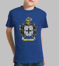 Camiseta niños Escudo Apellido Caro