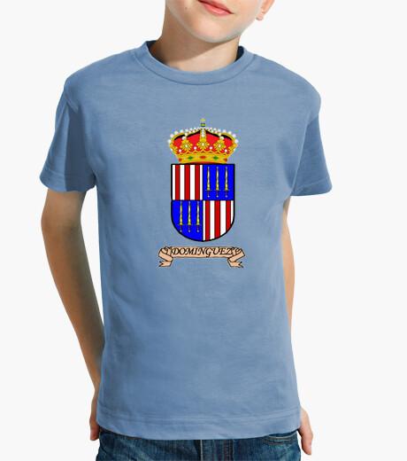 Ropa infantil Camiseta niños Escudo Apellido Dominguez