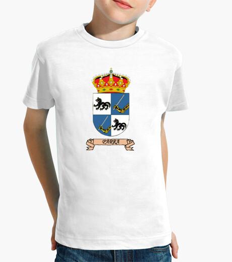 Ropa infantil Camiseta niños Escudo Apellido Parra