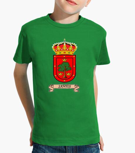 Ropa infantil Camiseta niños Escudo Apellido Santos