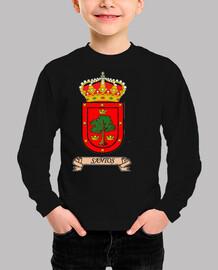 Camiseta niños Escudo Apellido Santos