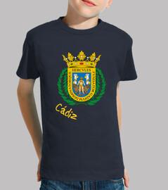 Camiseta niños Escudo de Cádiz