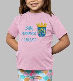 Camiseta niños Escudo de San Fernando (Cádiz)
