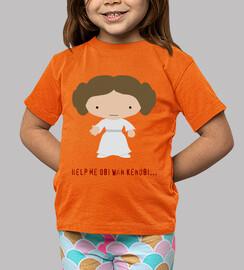 Camiseta niños Leia