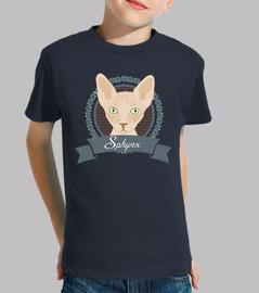 camiseta niños sphynx