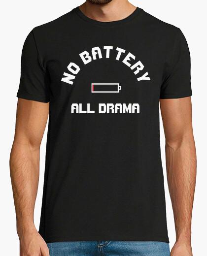 Camiseta No Battery - blanco
