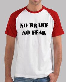 Camiseta No brake, no fear (Roja/blanca)