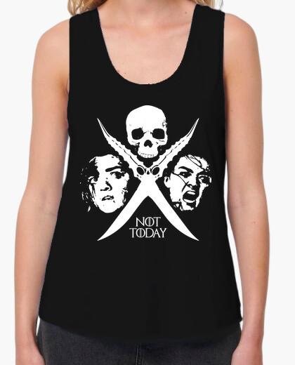 Camiseta Not Today - Arya Stark (sin mangas mujer)