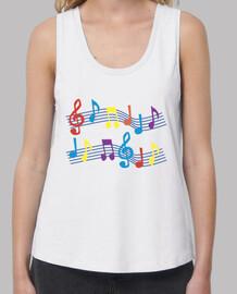 camiseta notas musicales