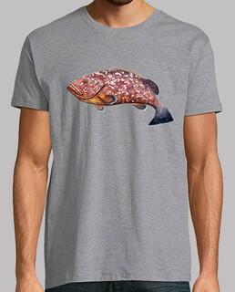 camiseta nur ein hombre, manga kurz, grau melange, extra qualität