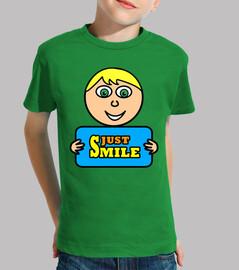 camiseta nur lächeln ii (kind)
