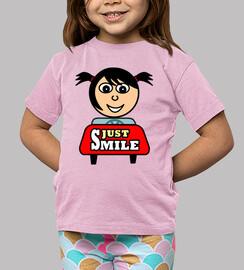 camiseta nur lächeln (kind)