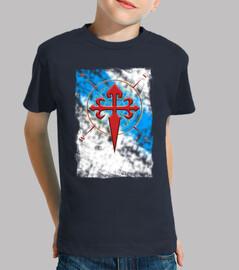 Camiseta O Camino Santiago Bandera Gali