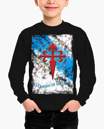 Ropa infantil Camiseta O Camino Santiago Galicia