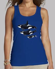 Camiseta Orca Mujer, sin mangas, azul royal