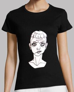 """Camiseta original ilustración """"one line""""  sad boy"""