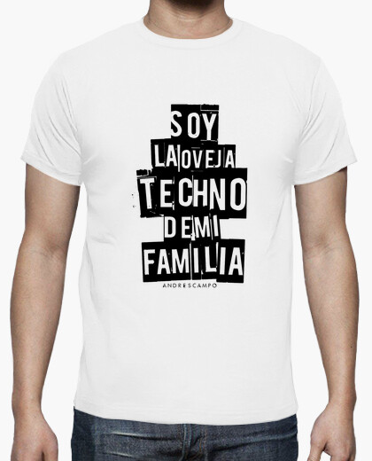 Camiseta Oveja Techno White