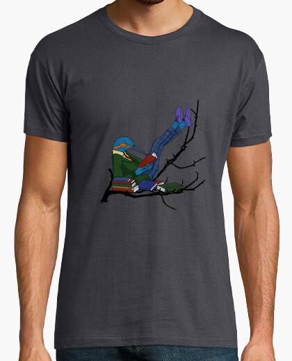 Camiseta Pájaro leyendo