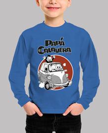 Camiseta Papa Calavera Viaje AZUL