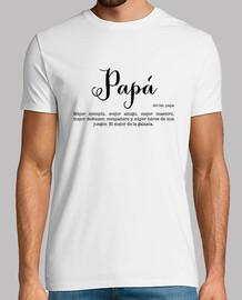 Camiseta Papá, Hombre, manga corta, blanco, calidad extra