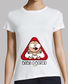 Camiseta para chicas y embarazadas de Bebé a bordo